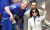 IPL 2009 - Rajasthan Royals captain Shane Warne and Bollywood star Shilpa Shetty