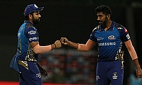Mumbai Indians' Rohit Sharma and Jasprit Bumrah