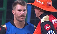 Warner and Bayliss having a chat