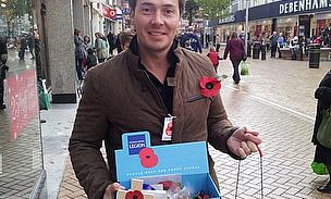 Graham Napier Joins Royal British Legion For 2012 Poppy Appeal