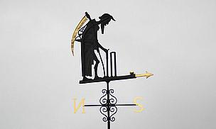 The weather vane at Lord's - the home of cricket