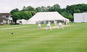 Club cricket in action