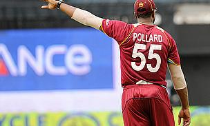 Pollard captaining the West Indies.