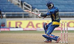Upul Tharanga hits out during his innings of 174 not out against India
