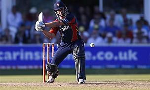 Ten Doeschate plays onto the leg-side for Essex.