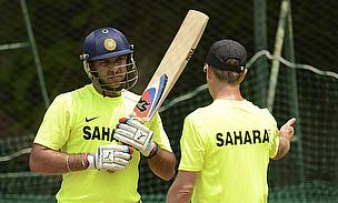 Yuvraj Singh during training