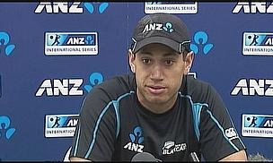 Ross Taylor talks to the press