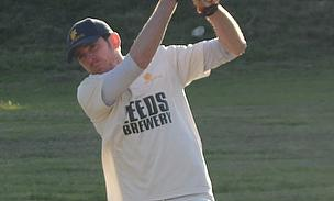 HCC 1st XI skipper Steve Gilks going down fighting