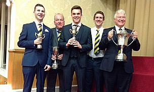 Six Himley CC representatives picked up awards for their achievements in 2013 - five are pictured here