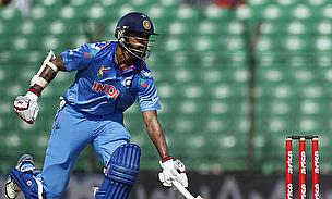 Shikhar Dhawan makes his crease
