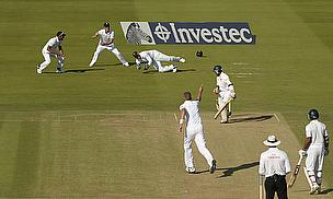 Kaushal Silva survived this caught-behind chance to make a half-century
