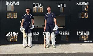 George Haley (left) wins the GM Cricket World Batting award for May 2014