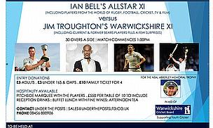 Ian Bell's All-Star XI  v Jim Troughton's Warwickshire XI