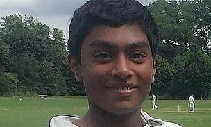 Dhiren de Silva led Harrow School out at Lord's