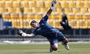 Quinton de Kock in training