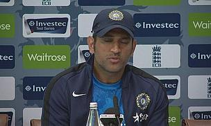 MS Dhoni speaks to the media at Lord's