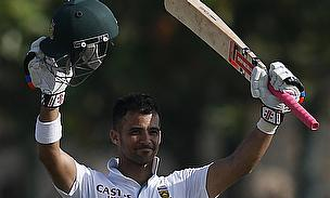 JP Duminy celebrates reaching a century
