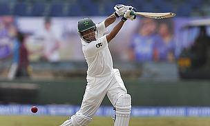 Younus Khan drives against Sri Lanka
