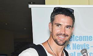Kevin Pietersen has arrived in the Caribbean