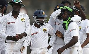 Sri Lanka celebrate on their way to a seven-wicket win over Pakistan