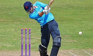 Alex Hales hits out while playing for the England Lions
