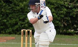 Joe Holland hits out for the 1st XI during his half-century