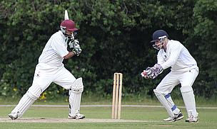 Pat Yates (right) played a blinder behind the stumps on a memorable day for Harlow Town CC