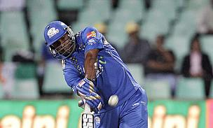 Kieron Pollard hits out for the Mumbai Indians