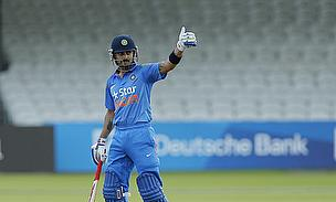 Virat Kohli gives a thumbs up