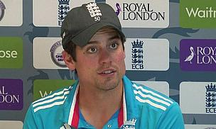 Alastair Cook talks to the media following England's win at Headingley