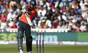 Moeen Ali plays a shot