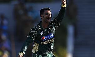 Mohammad Hafeez appeals for a wicket