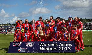England celebrate victory in 2013