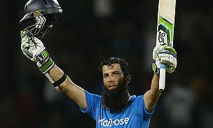 Moeen Ali celebrates his century against Sri Lanka