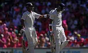 Virat Kohli (left) and Lokesh Rahul both scored centuries as India fought back on day three