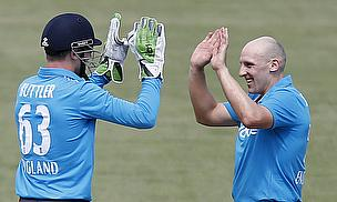 James Tredwell (right) took three wickets as England thrashed the Australian Capital Territory XI