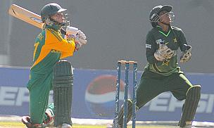 After Sune Luus took five wickets, Dane van Niekerk (pictured here) helped South Africa claim victory with the bat