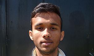 Kibreeth Rameez, who took four for eight in just five overs against Pinner