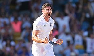 James Anderson picked a six-wicket haul as England dismissed West Indies for 189 in the first innings.