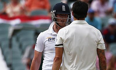 Mitchell Johnson pumped up to battle Ben Stokes