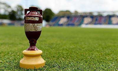 A replica of the Ashes urn