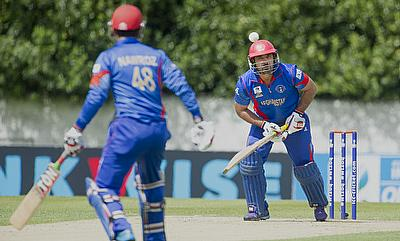 Samiullah Shenwari (right) scored a crucial 44 for Afghanistan as they defeated Netherlands by 32 runs in the ICC World T20 Qualifiers game in Edinbur