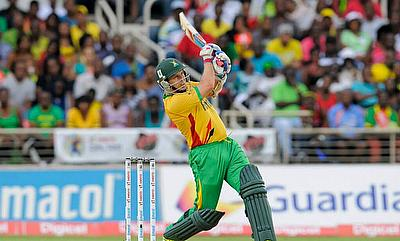 Brad Hodge smacked an unbeaten 65 off just 30 deliveries as Guyana Amazon Warriors defeated Jamaica Tallawahs by 84 runs.