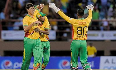 Marchant de Lange registered figures of 4-23 to restrict Trinidad & Tobago Red Steel to 117 in the CPL game in Guyana.