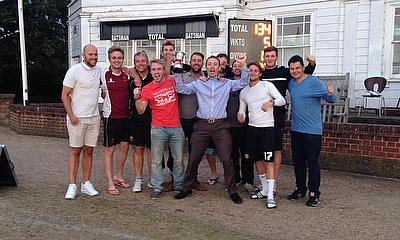 Farningham CC celebrate success in the Clarke Trophy