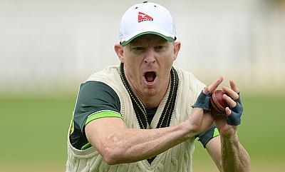 Chris Rogers in a training session ahead of the Edgbaston Test.