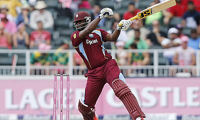Dwayne Smith hits out for the West Indies