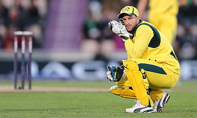 Matthew Wade in action during Australia's ODI win over England at The Rose Bowl