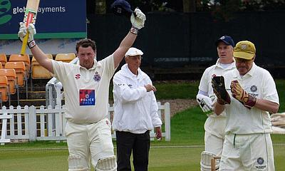 Richard Grant celebrates reaching his century