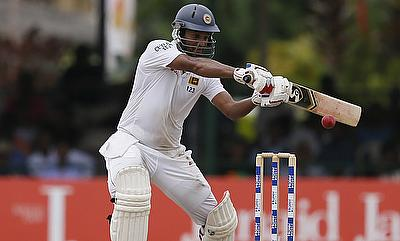Dimuth Karunaratne scored an unbeaten 135 on day one of the first Test against West Indies in Galle.
